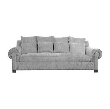 Traditional sofa / fabric / blue - ORLEANS - Gastón y Daniela