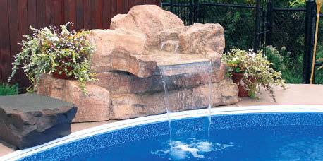 Captivating Pool Wasserfall Amazing Design