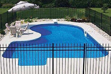 Nice In Ground Swimming Pool / Steel / Wall / Outdoor   VERMONT