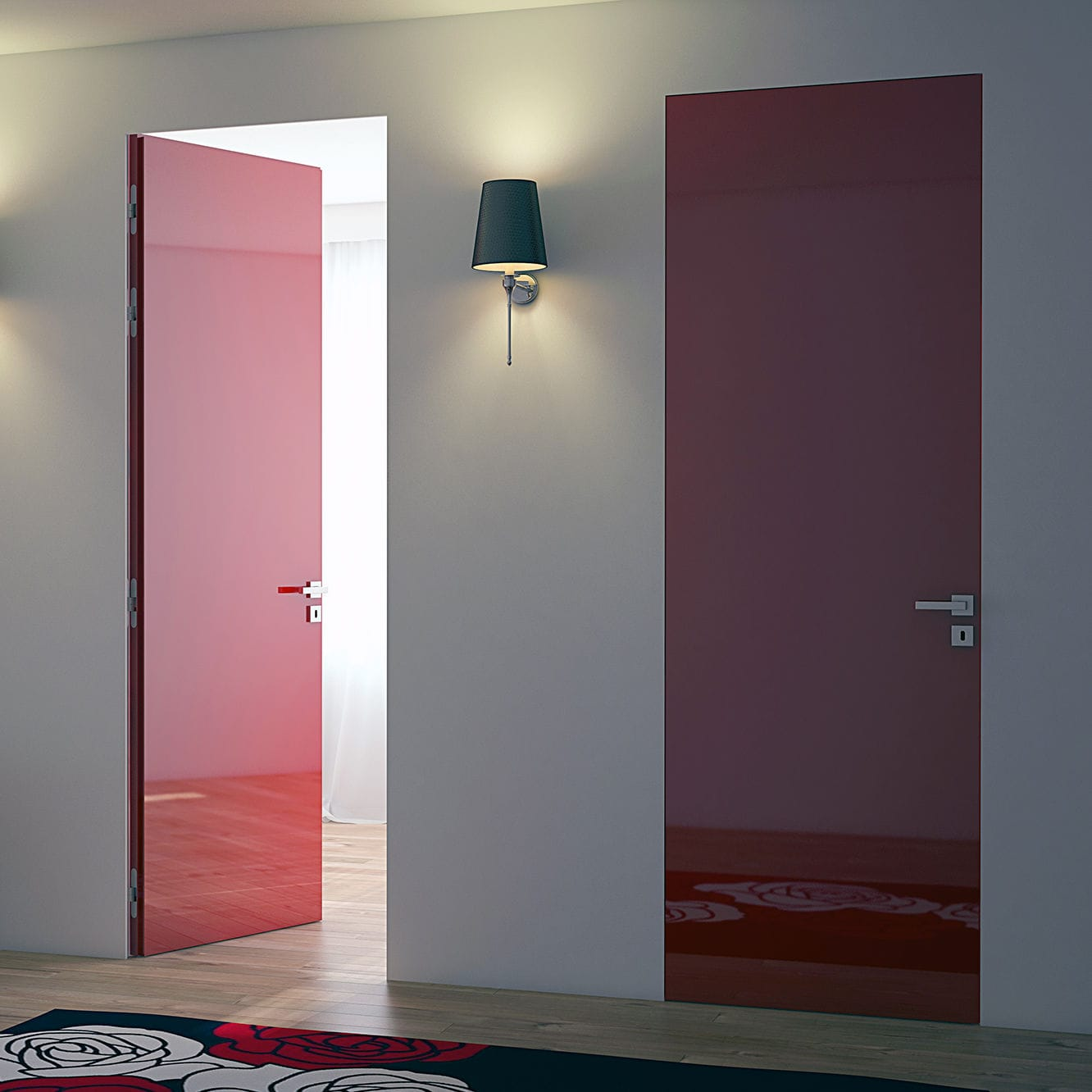 flush door / indoor / swing / metal - LINEAR® BATTENTE & Flush door / indoor / swing / metal - LINEAR® BATTENTE - PROTEK
