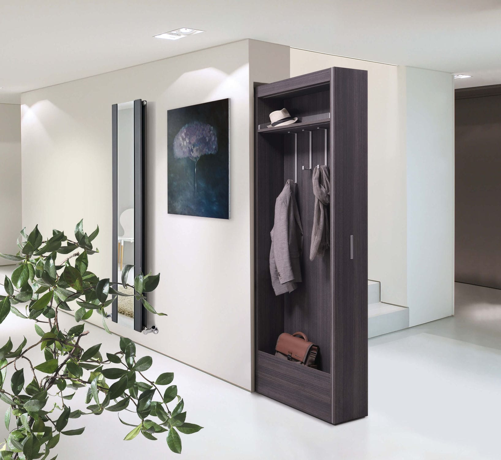 Cappottiera A Muro.Contemporary Walk In Wardrobe Wooden Bigfoot Modulo Cappottiera