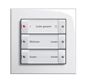 Light Switch Push Button Triple Glass Light Scene Push