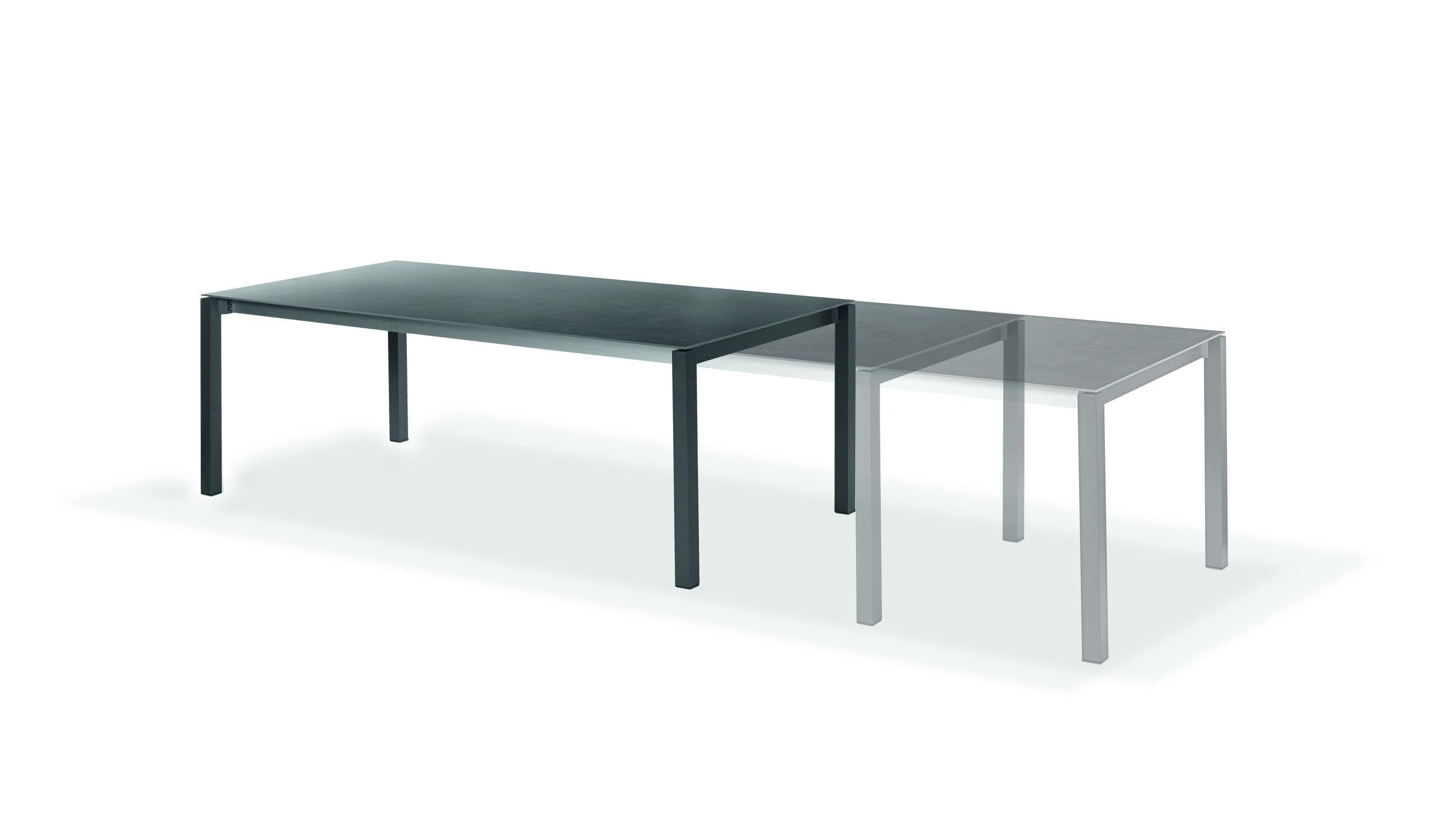 Contemporary dining table cement teak laminate RIO