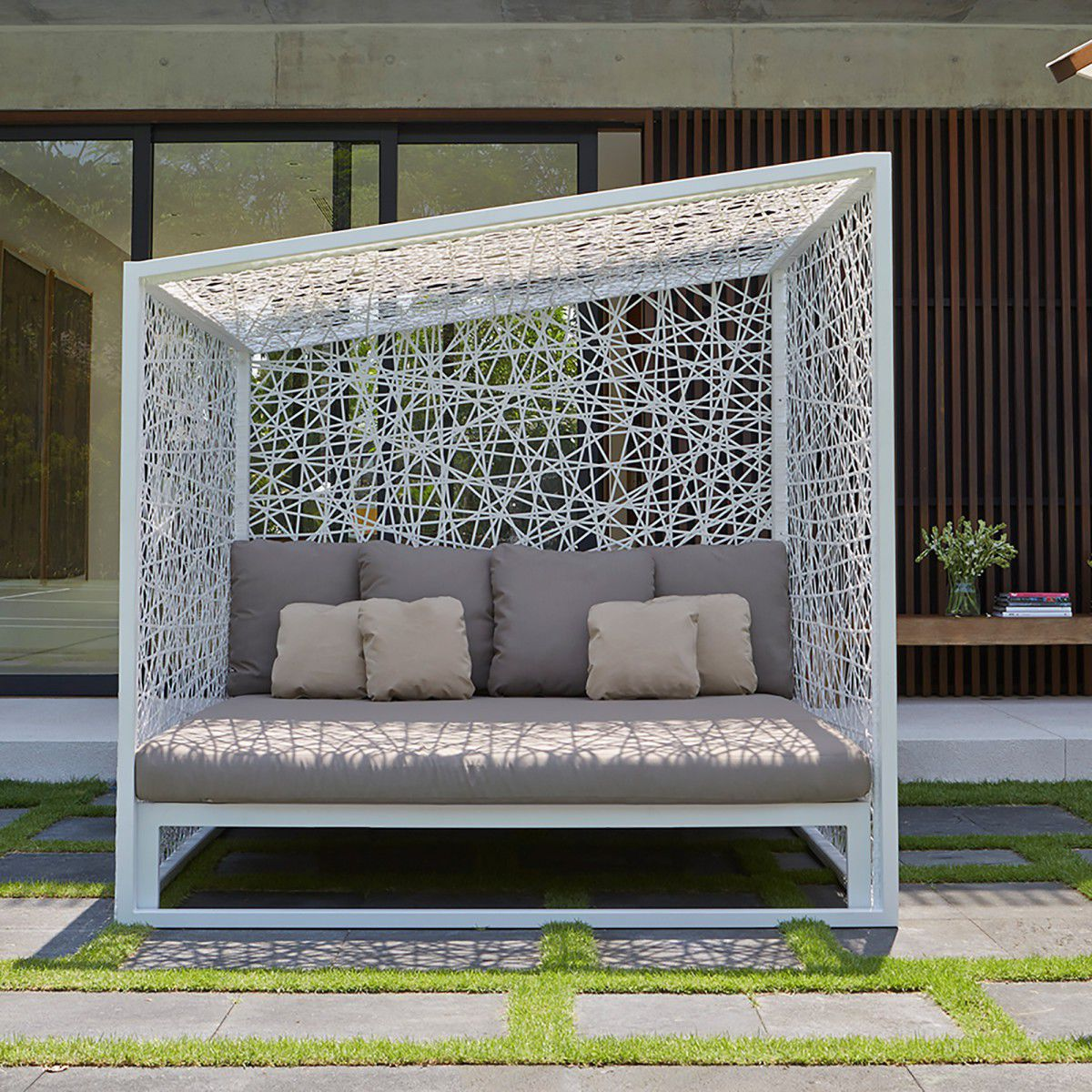 Contemporary daybed / metal / garden / canopy - GEOMETRIC & Contemporary daybed / metal / garden / canopy - GEOMETRIC - SKY ...