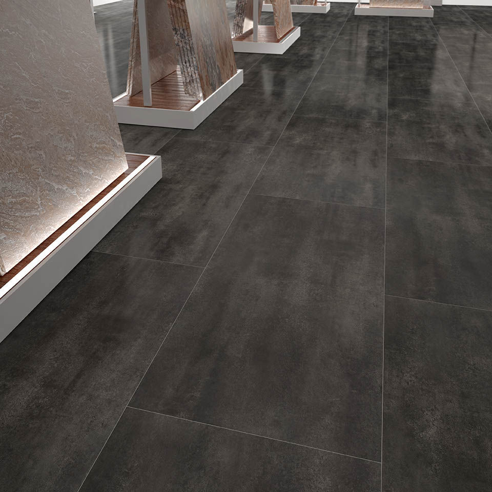 HDF laminate flooring / floating / stone look / tile look - ÓXIDO ...