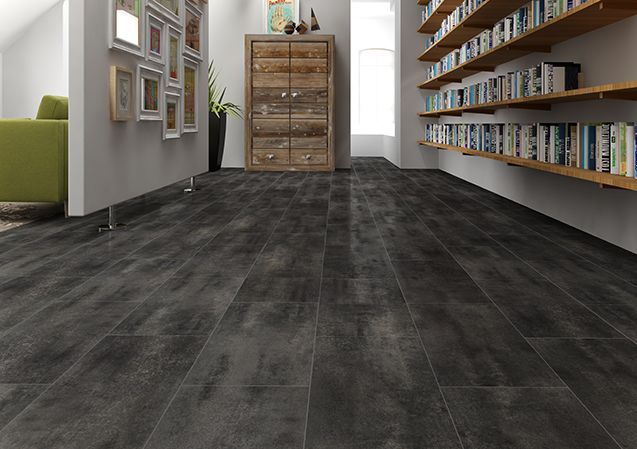 Hdf Laminate Flooring Floating Stone Look Tile Look Xido Negro Faus International Flooring