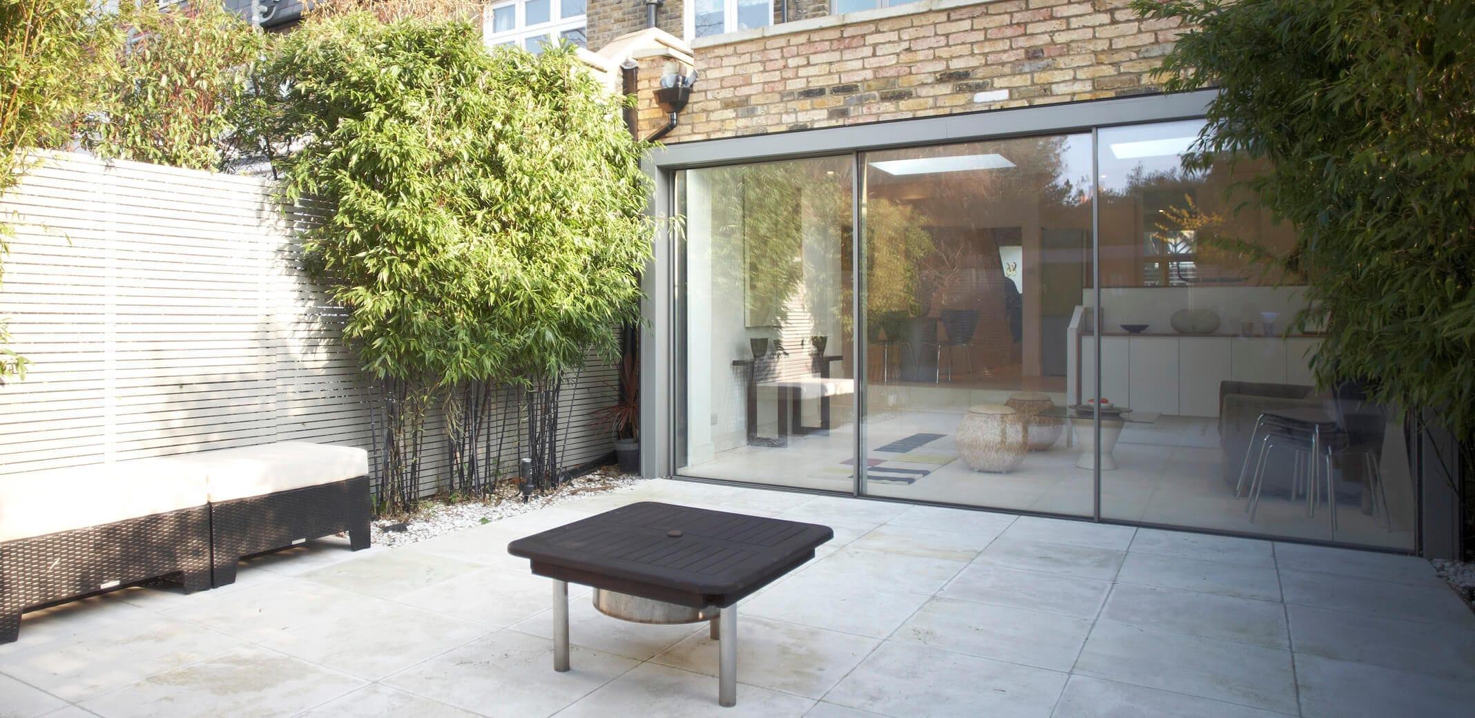 Sliding patio door metal double glazed SKY FRAME CLASSIC