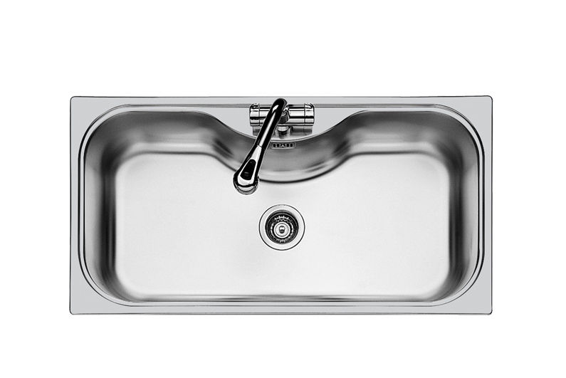 1-Bowl Kitchen Sink / Stainless Steel - Uragano.Std - 1555 600