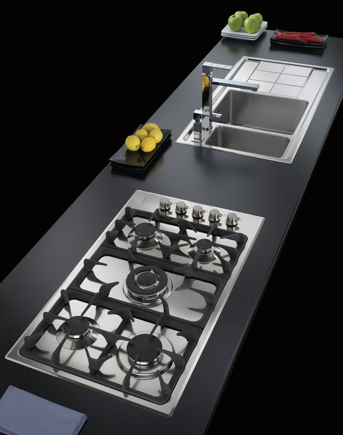 Gas cooktop / cast iron / with grill - PROFESSIONALE.5F.SF - 7246 ...