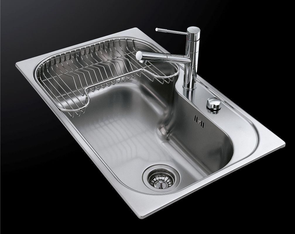 Single-bowl kitchen sink / stainless steel - TORNADO.STD - 1579 ...