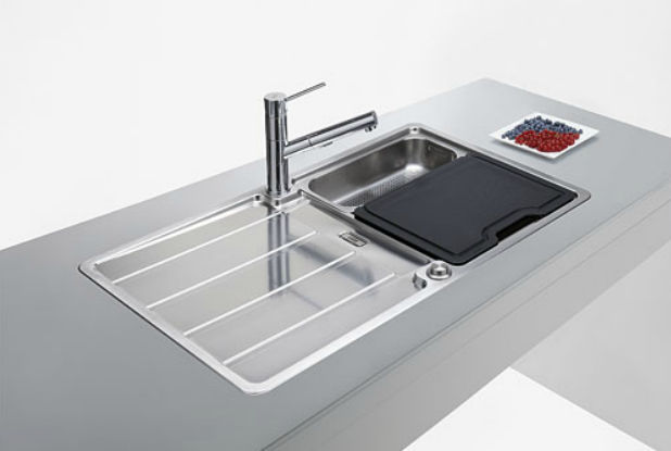 Single Bowl Kitchen Sink / Stainless Steel / With Drainboard   HYDROS : HDX  614
