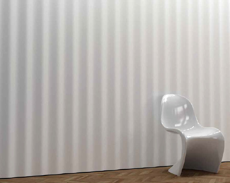 Plaster decorative panel / wall-mounted / 3D - CORRUGATED ...