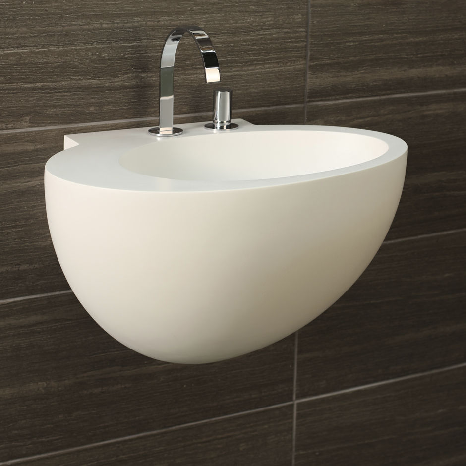 Merveilleux Wall Mounted Washbasin / Oval / Solid Surface / Contemporary   SUAVE: 6050