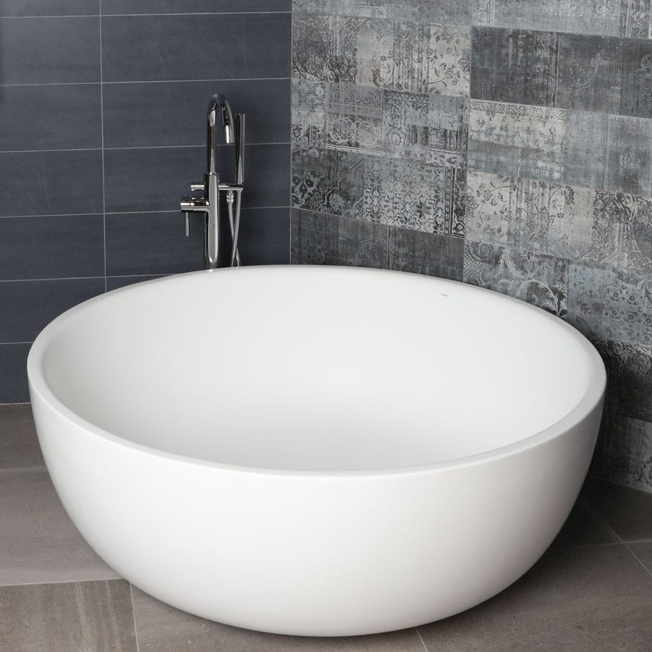 Free-standing bathtub / round / Solid Surface - TWIN SET: TUB06 - Lacava