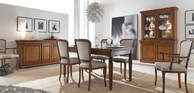 Louis Philippe style dining table   beech   cherrywood   rectangular  MIRABEAU  E3085 SELVA. Louis Philippe style dining table   beech   cherrywood