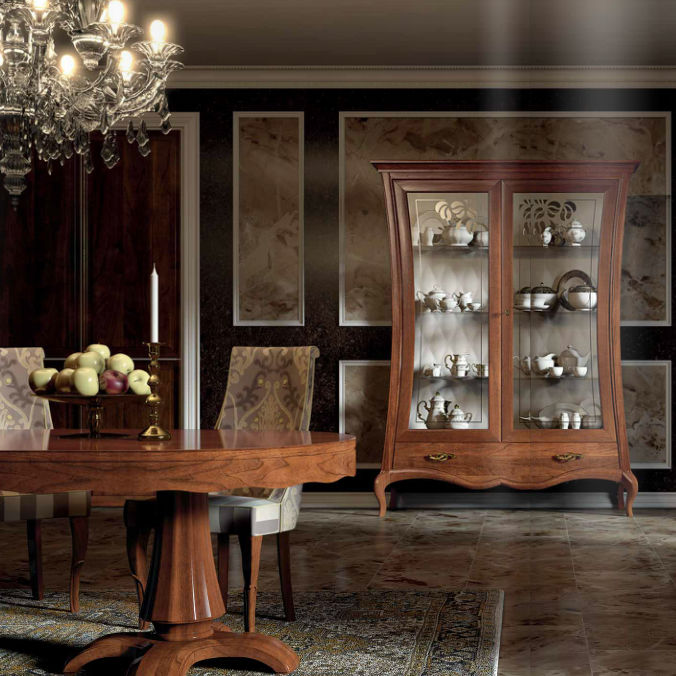 Traditional China Cabinet / Glass / Wooden   LA DOLCE VITA