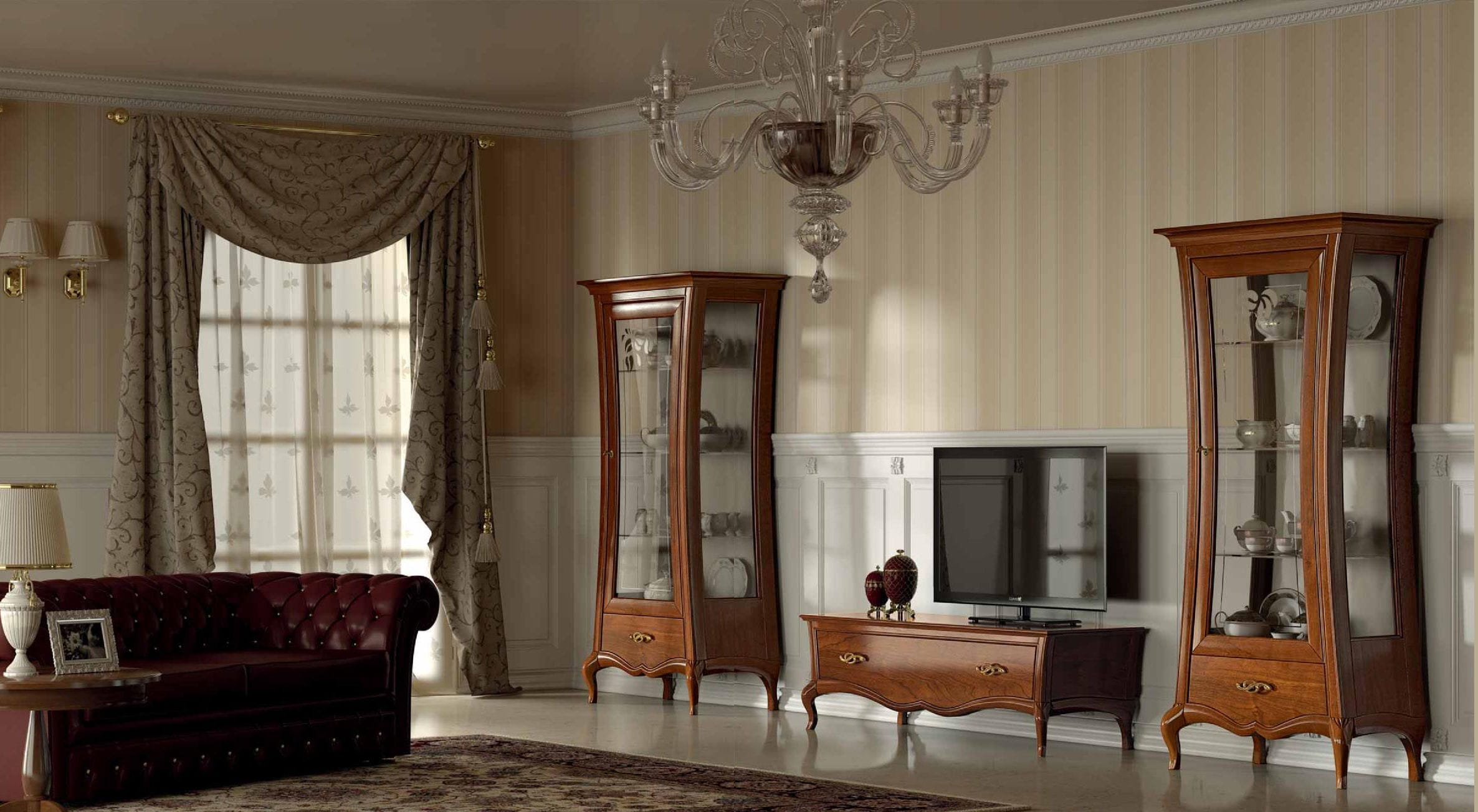 ... Classic TV Wall Unit / Wooden / Lacquered Wood / Glass LA DOLCE VITA  Stilema Part 62