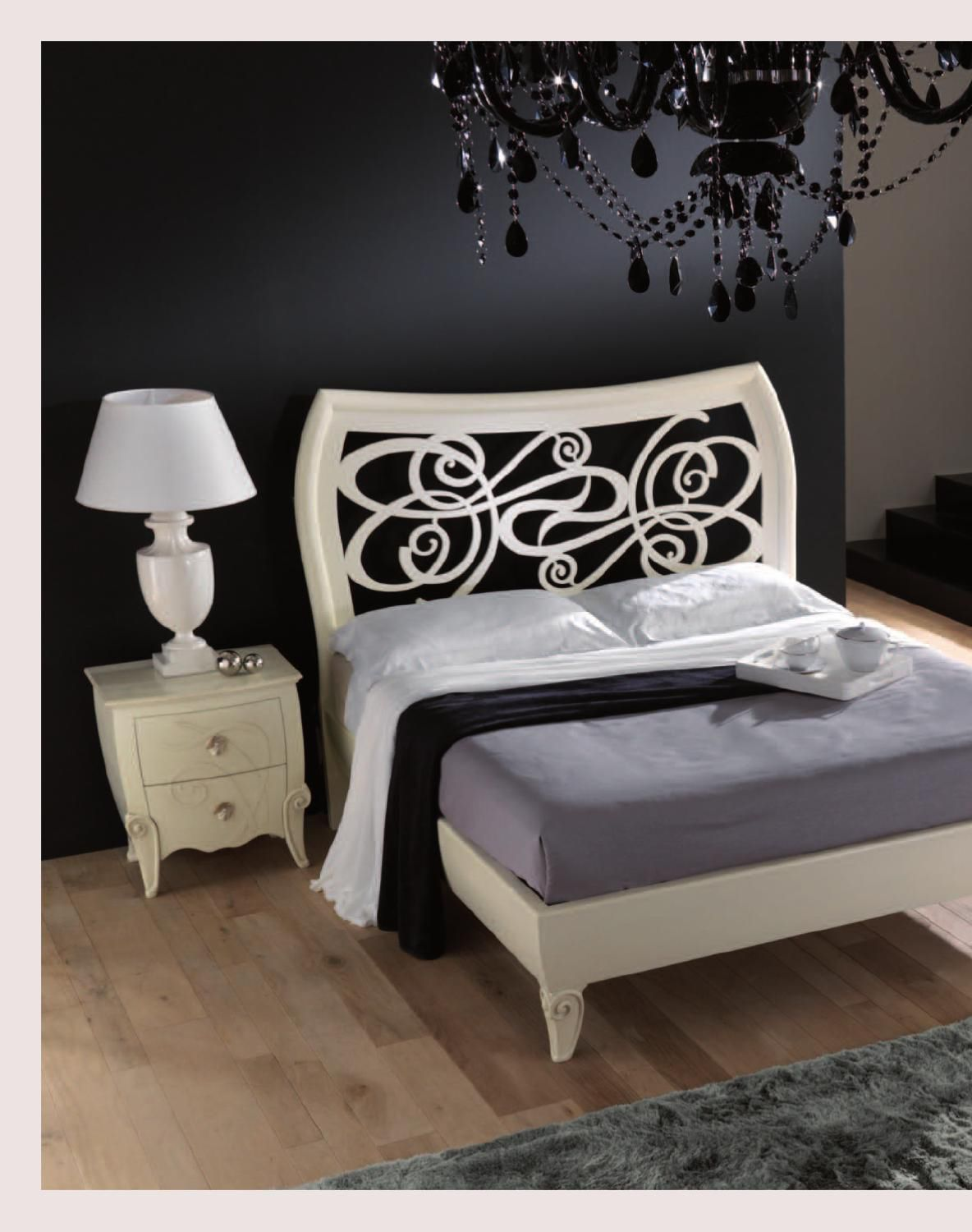 Double bed / traditional / with upholstered headboard / upholstered ...