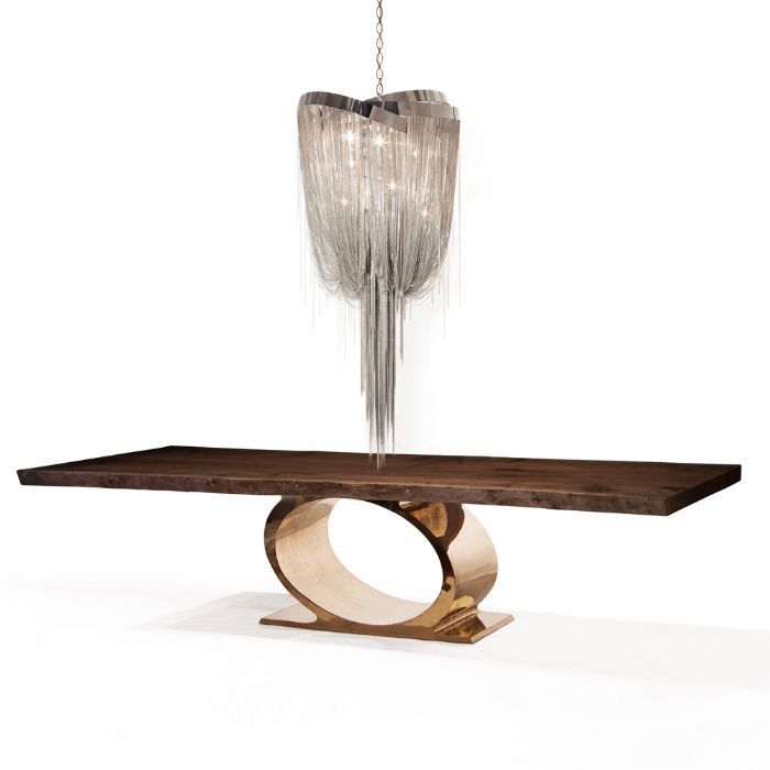 hudson furniture lighting. contemporary dining table walnut polished stainless steel bronze o hudson furniture lighting