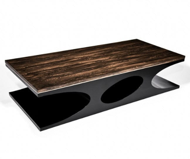 ... Contemporary Coffee Table / Lacquered Wood / Rectangular / In Reclaimed  Material VOLCANO Hudson Furniture