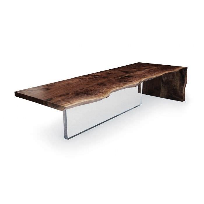 Charmant Contemporary Coffee Table / Plexiglas® / Walnut / Rectangular PLEXI Hudson  Furniture