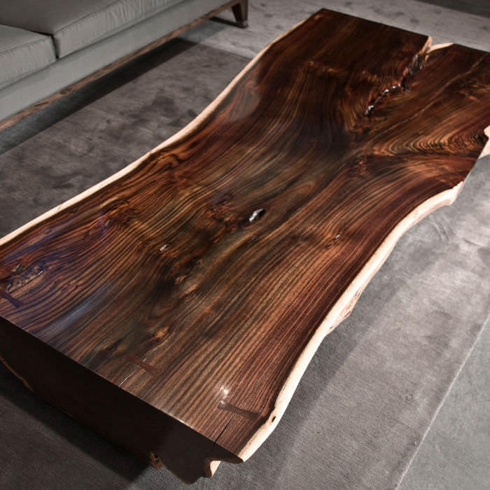 Elegant ... Contemporary Coffee Table / Rosewood / Rectangular / In Reclaimed  Material
