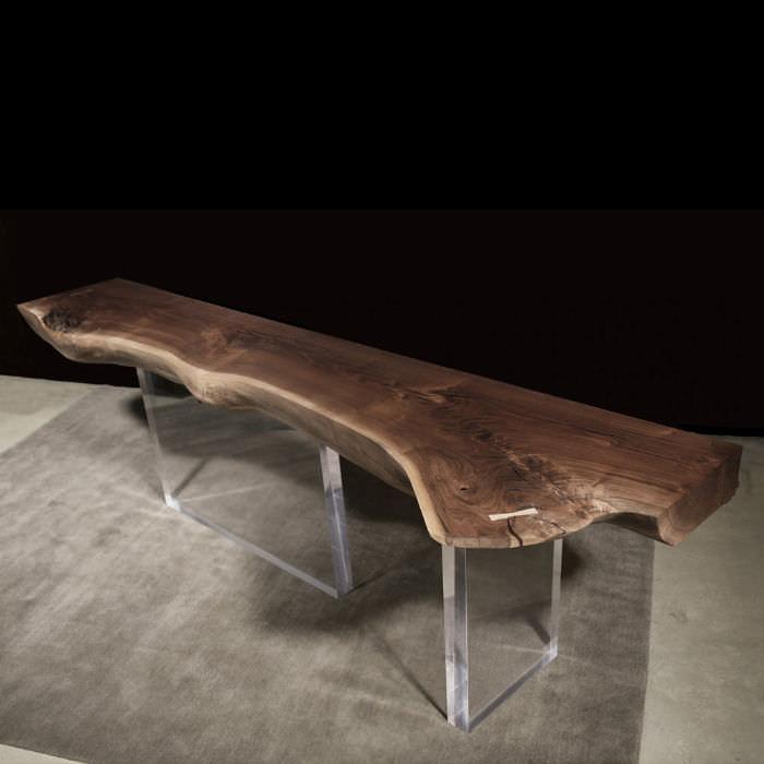 ... Hudson Furniture Contemporary Sideboard Table / Plexiglas® / Walnut /  Custom   PLEXI