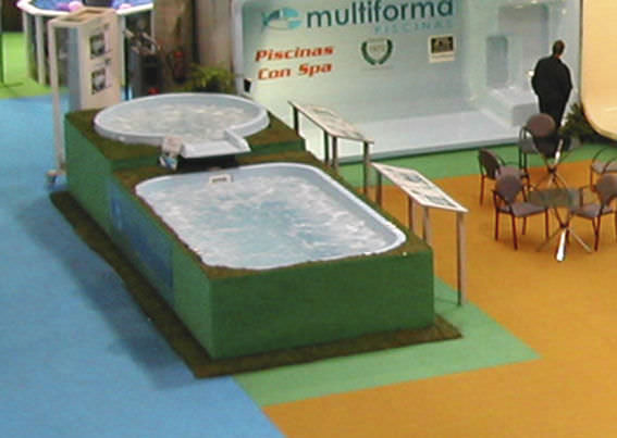 above ground swimming pool polyester one piece outdoor multiforma - Above Ground Fiberglass Swimming Pools