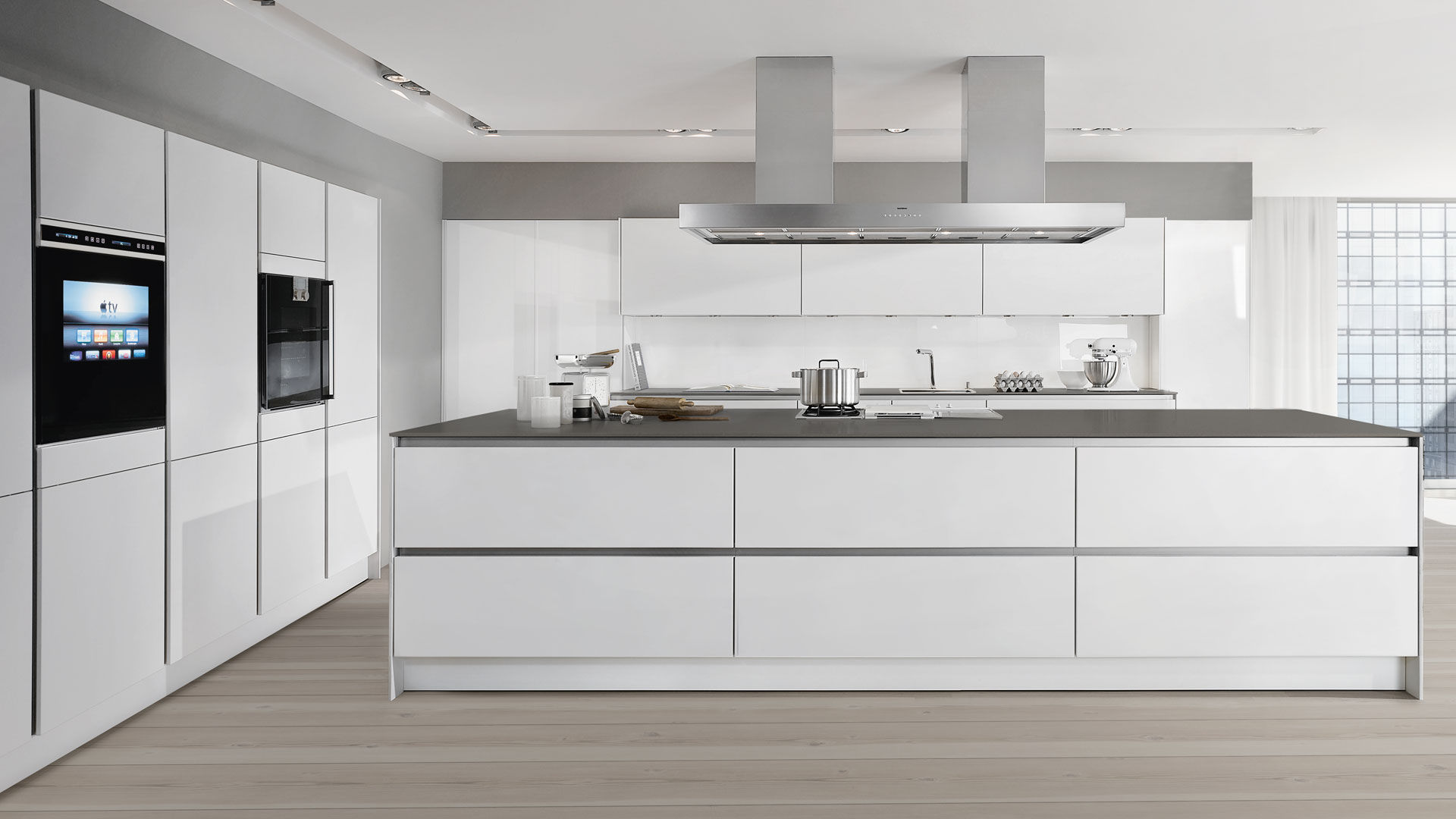 Ceramic countertop / kitchen / recycled - INDESTRUCTIBLE - SIEMATIC