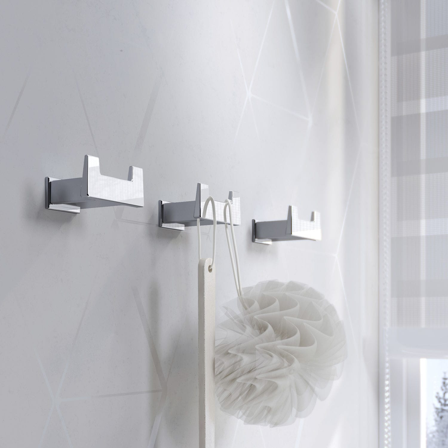 Contemporary coat hook / metal / double / bathroom - S-CUBE: 166817 ...