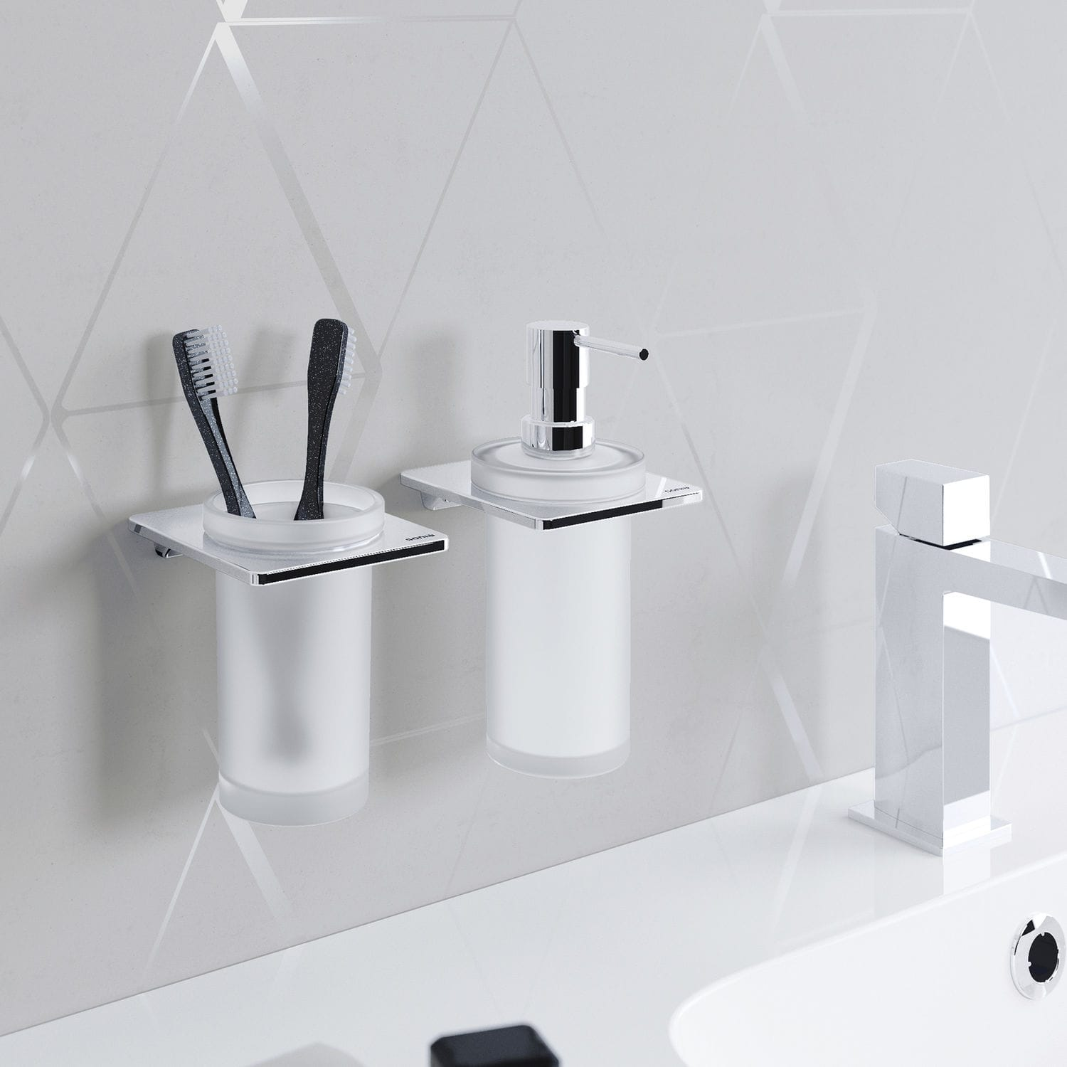 Commercial soap dispenser / wall-mounted / metal / manual - S-CUBE ...