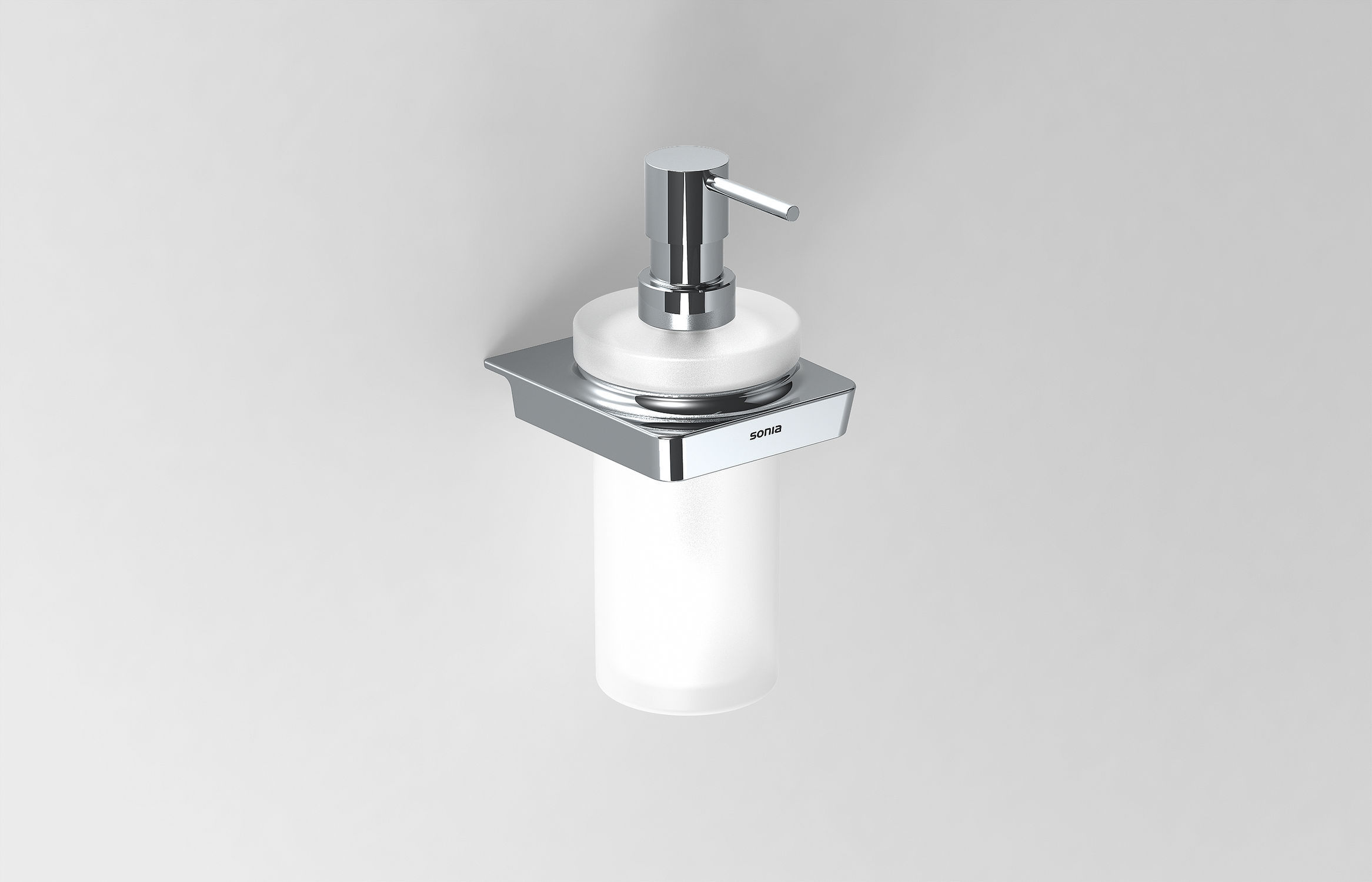 Commercial soap dispenser / wall-mounted / metal / manual - S6 ...