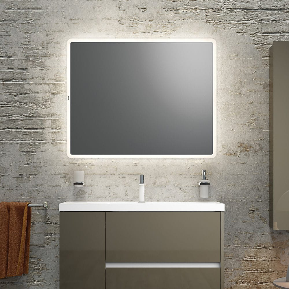 Wall mounted mirror contemporary rectangular led illuminated wall mounted mirror contemporary rectangular led illuminated basic 161140161157 amipublicfo Image collections