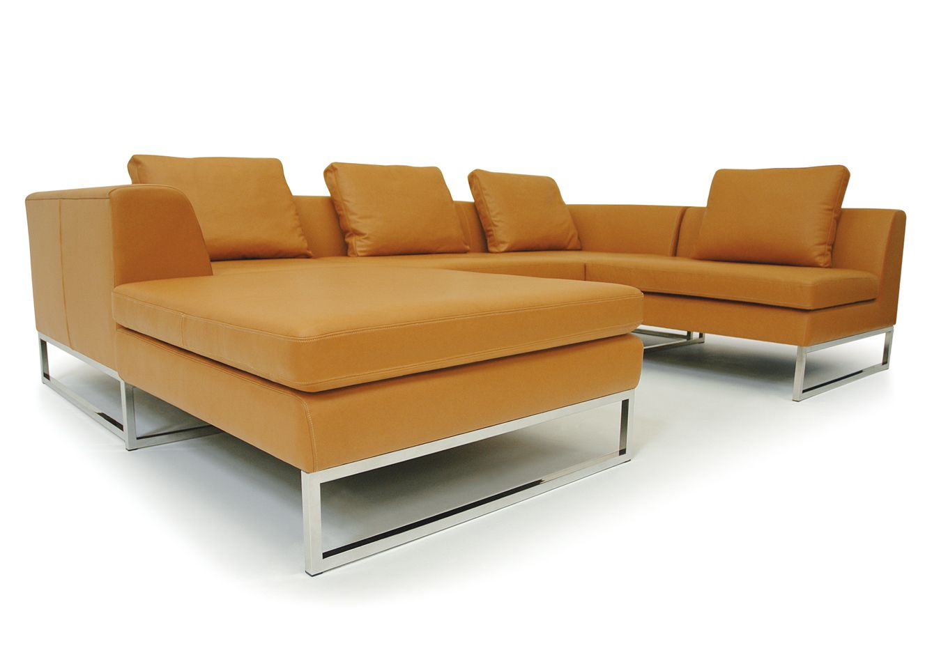 modular sofa  contemporary  leather  seater  haus  hb group - modular sofa  contemporary  leather  seater  haus