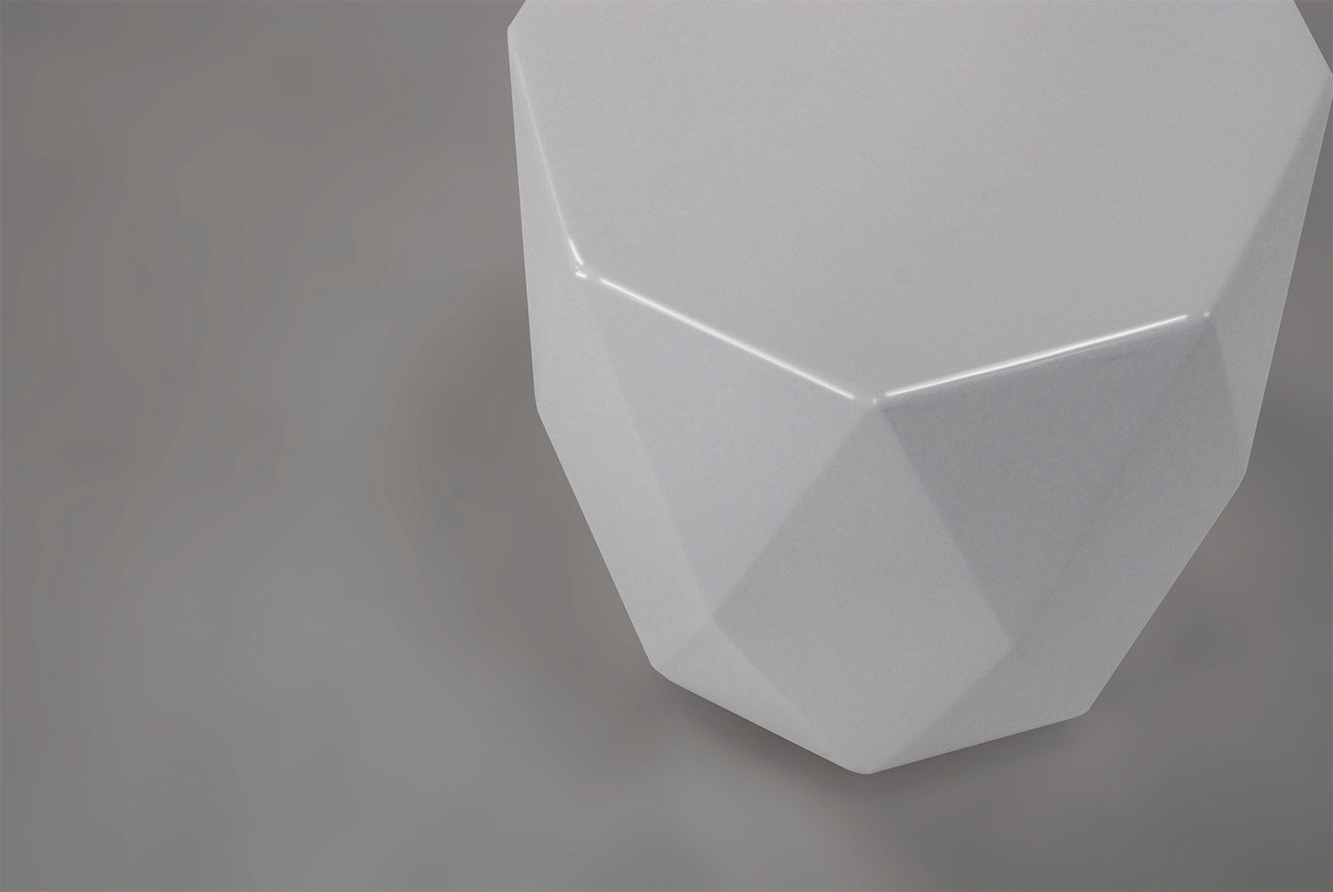 ... Contemporary Side Table / Plastic / Octagonal GEM HB Group ...