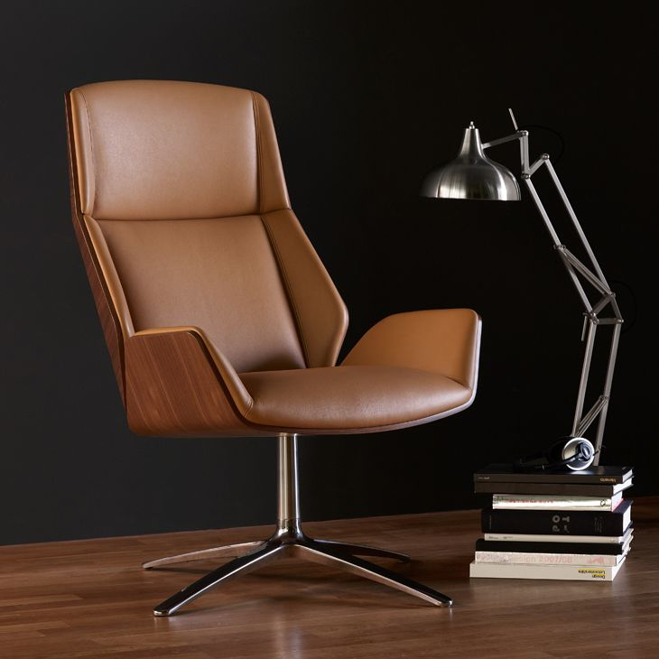 contemporary lounge chair fabric leather oak kruze by david