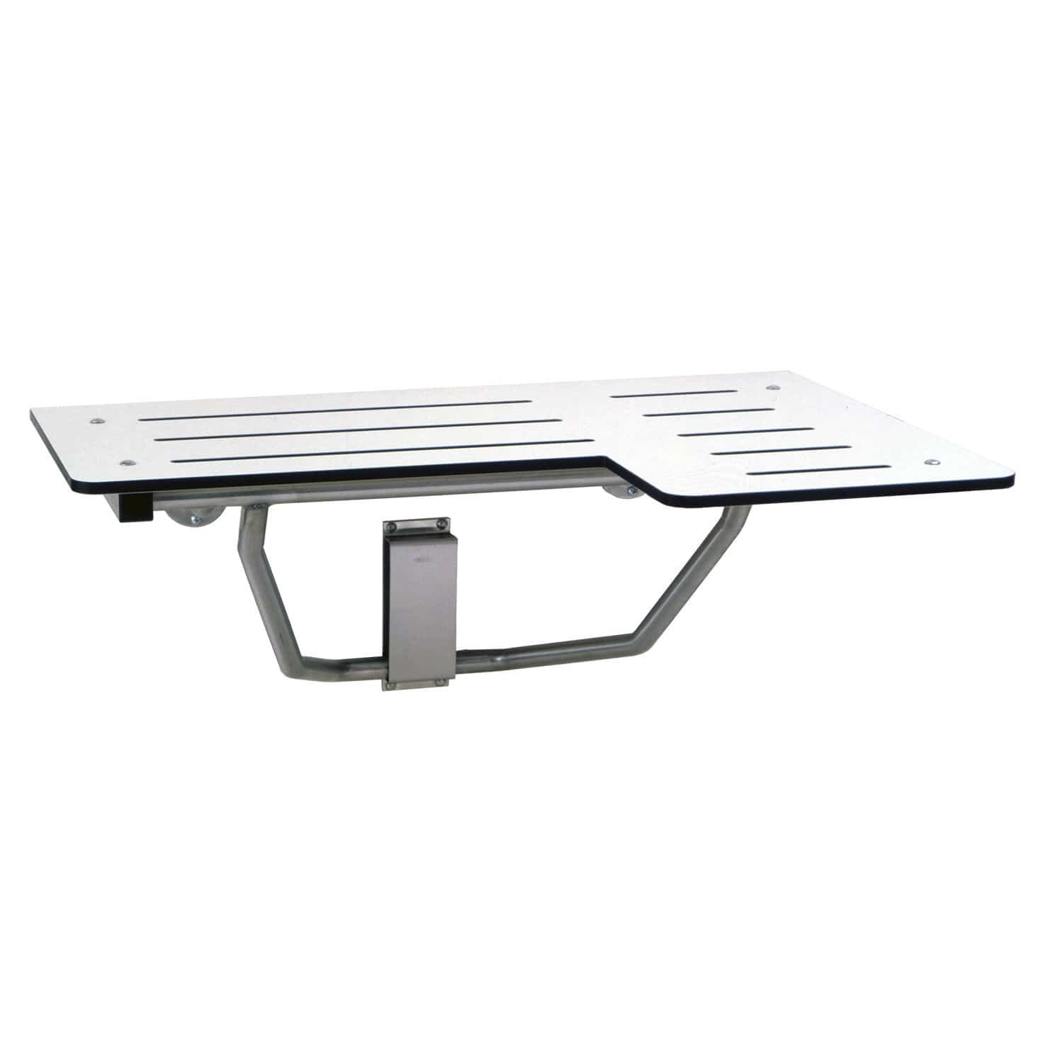 Folding shower seat / stainless steel / wall-mounted - B-5181 ...