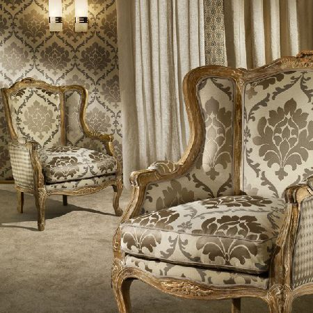 Upholstery Fabric For Curtains Wall Damask