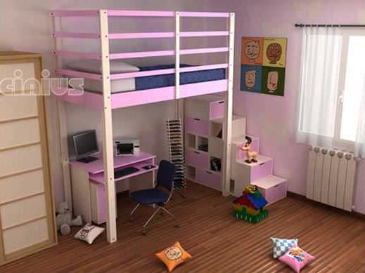 Loft bed / double / contemporary / child\'s - LETTO A SOPPALCO NIDO ...
