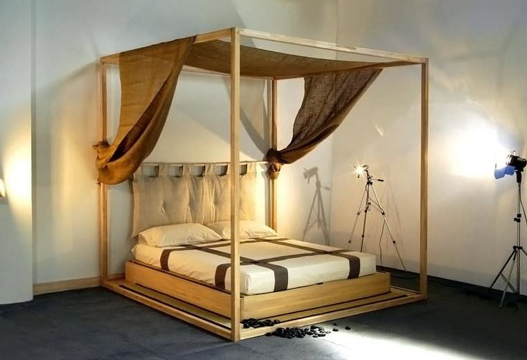 Canopy bed / double / contemporary / wooden - YASUMI & Canopy bed / double / contemporary / wooden - YASUMI - Cinius