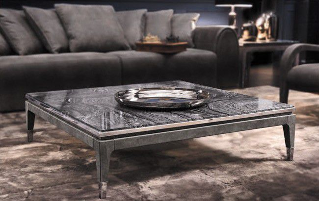 Traditional Coffee Table Wooden Square Master Los Angeles Smania