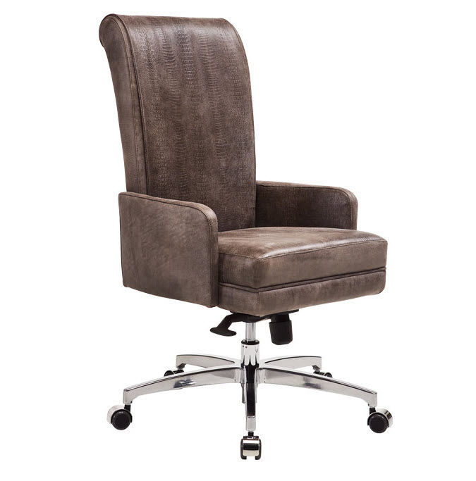 Contemporary Executive Chair / Leather / Star Base   MASTER: ROLLER