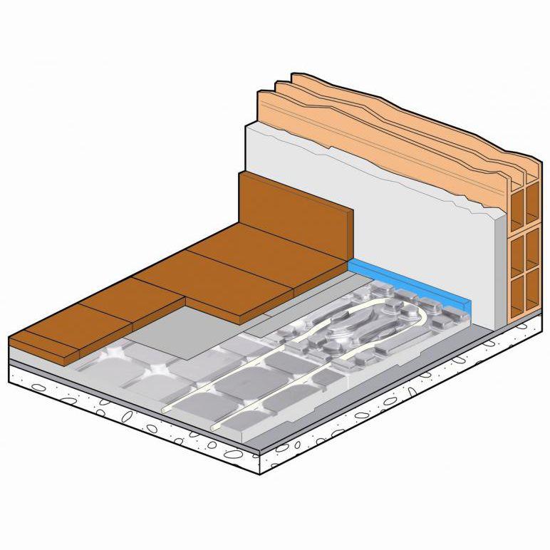 Hot Water Underfloor Heating / Residential   DRY ALU FLOOR