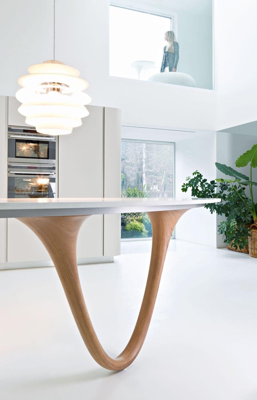 contemporary kitchen wooden island lacquered ola 20 by pininfarina design snaidero
