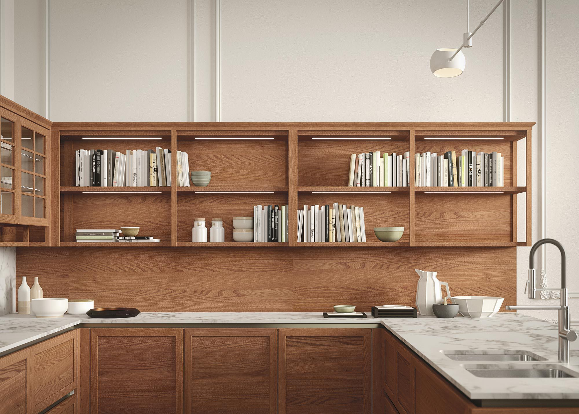 ... Traditional Kitchen / Elm / Modular / Island HERITAGE By Iosa Ghini  Design SNAIDERO ...