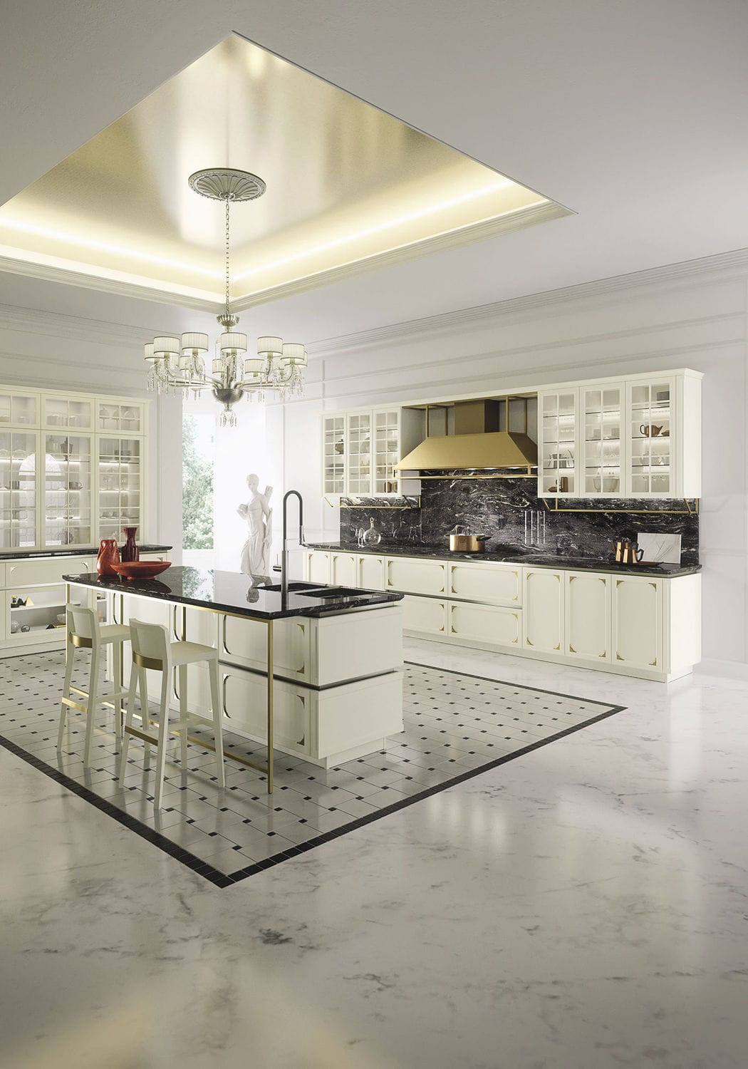 Traditional kitchen / wooden / modular / island - KELLY by Iosa ...