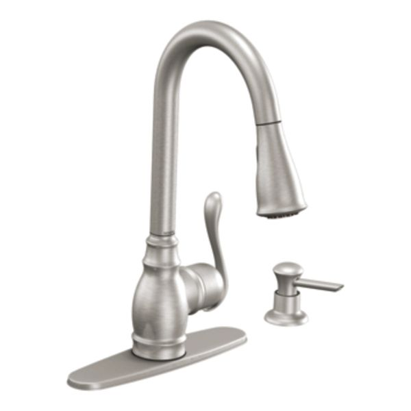 Stainless Steel Mixer Tap Self Closing Kitchen 1 Hole