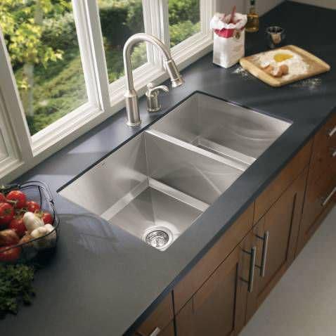 Double kitchen sink / stainless steel - 1600 : G16221 - Moen
