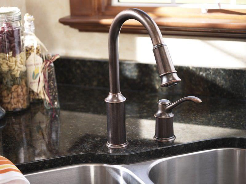 Bronze Kitchen Sinks Oilrubbed Bronze Drain Combination Package – Moen Bronze Kitchen Faucet