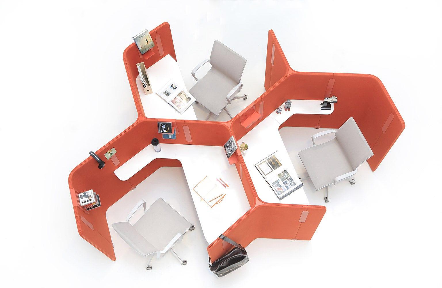 Workstation desk / laminate / contemporary / commercial - ISOLA - Nurus